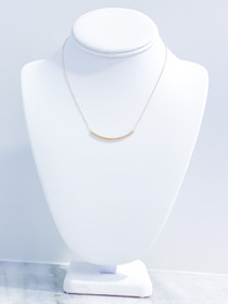 Bliss Bar Gold Necklace- 16""