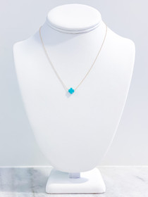 Signature Cross Necklace- Turquoise