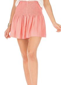 Olivia Smock Waist Shorts- Coral
