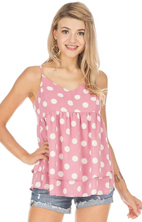 Berry Dot Flounce Top- Berry Dot