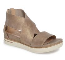 Sport Platform Sandal- Gold Leather