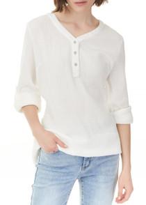 Bubble Cotton Blouse- White