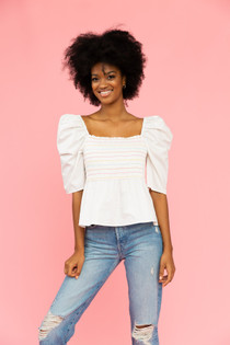 Maebel Top- White