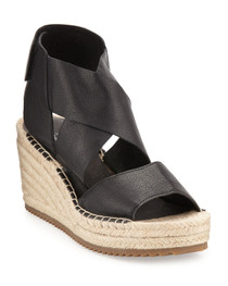 Willow Espadrille Wedge- Black