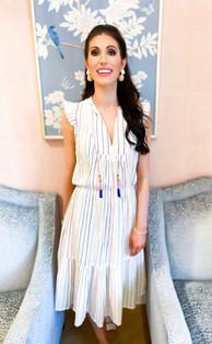 Lola Midi Dress- Rainbow Gauze