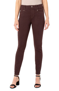 Gia Glider Skinny Ankle Jean- Chocolate Liqueur