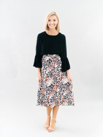 Martha Midi Skirt- Sandy Safari