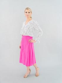 Martha Midi Skirt- Punch Bowl Pink