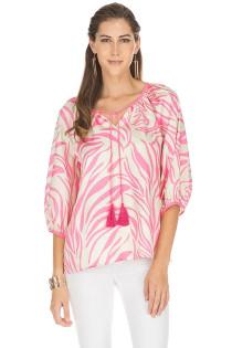Pink Zebra Top- Pink Zebra