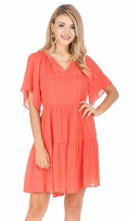 Swing Dress- Persimmon