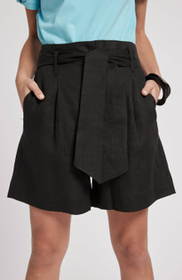 Conner Linen Short- Black
