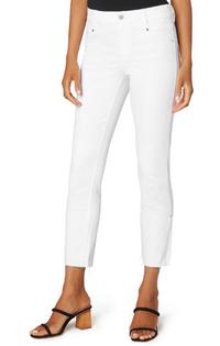 Gia Glider Crop Cut Hem w/Slit- Bright White