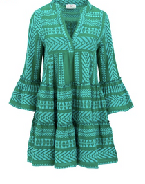 Ella Dress- Blue/Green