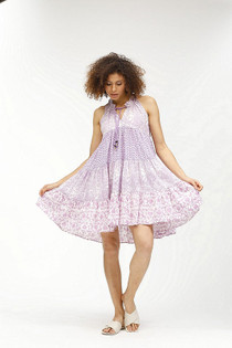 Sofia Short Dress- Lilac