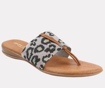Nice Elastic Sandal- Metallic Leopard