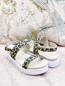Tulip Sandal- Latte Leopard