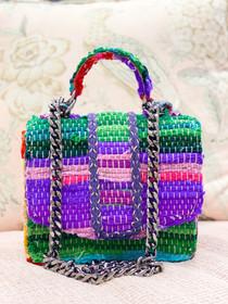 Mini Atina Handbag- Rainbow