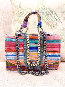 Atina Handbag- Muted Rainbow