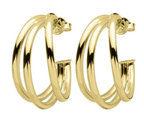 Claire Triple Hoops