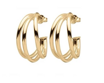 Small Claire Triple Hoops