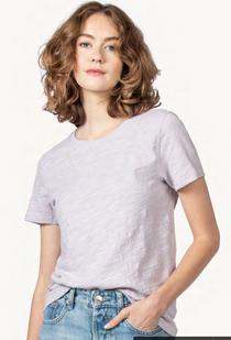 Short Sleeve Back Seam Tee- Freesia