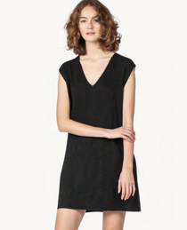 V-Neck Tank Dress- Black