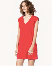 V-Neck Tank Dress- Loganberry
