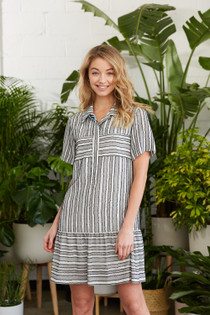 Calee Dress- Salt Stripe