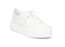 Pippy Lace Up Sneaker- White Snake Leather