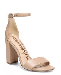 Yaro Block Heel Sandals- Soft Beige Leather