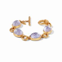 Barcelona Bracelet- Gold Iridescent Lavender