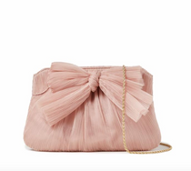 Pleated Frame Bow Clutch- Beauty