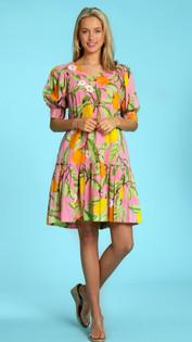 Anna Dress- Citrus Garden