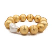 Margot Bracelet- Gold/White Pearl