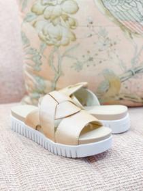 Tulip Slip-On Sandal- Gold
