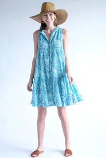 Ro Short Dress- Sea Mist
