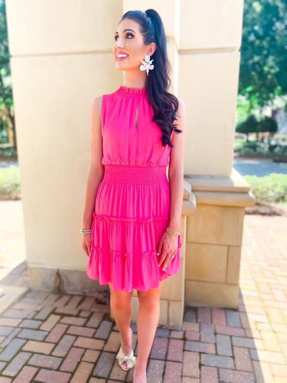 Rosie Dress- Carnation Pink