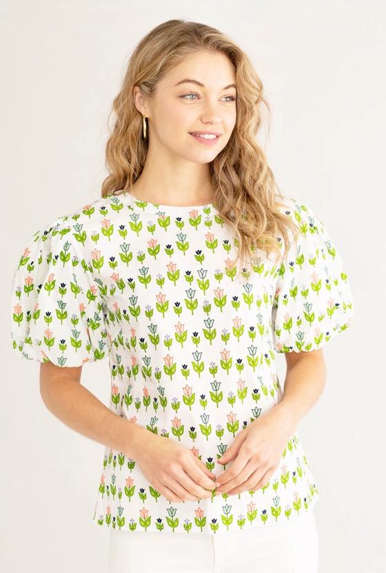 Annie Top- Summer Garden