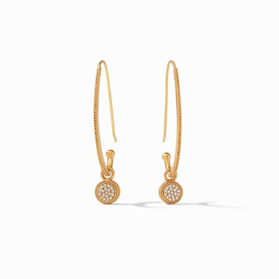 Windsor Statement Earring- Gold Pave CZ