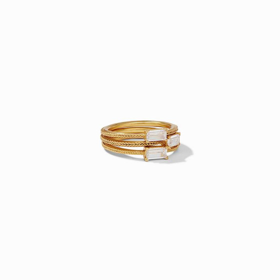 Windsor Trio Ring- Gold CZ- Size 6