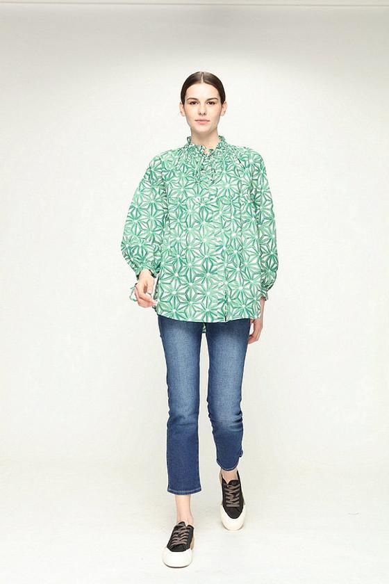 Reina Shirt- Petra Green