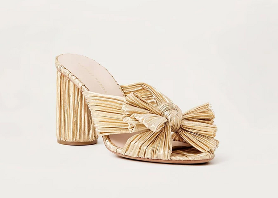 Penny Knot Mule- Gold
