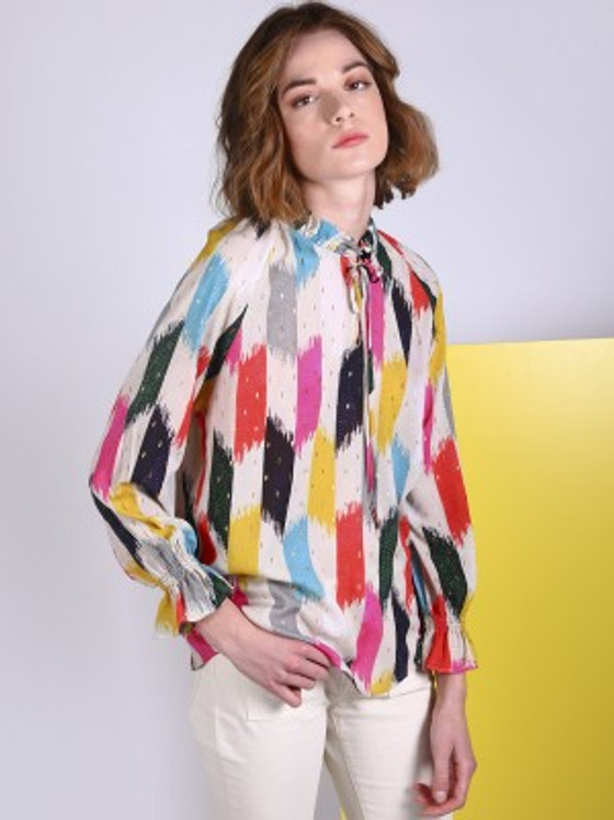 Velma Top- Rainbow Brushstroke