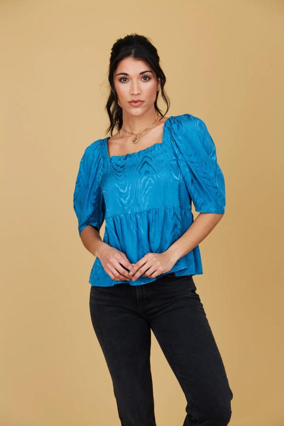 Liza Top- Bohemian Blue