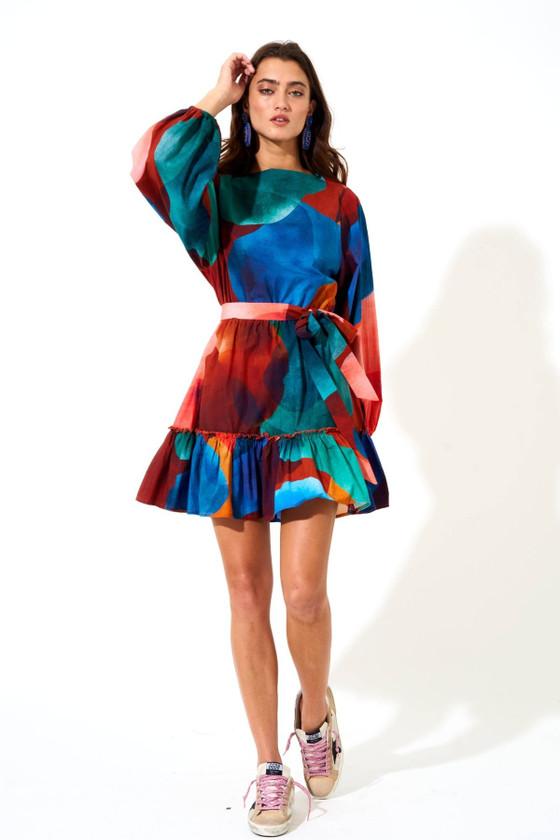 Flirty Short Dress- Teal