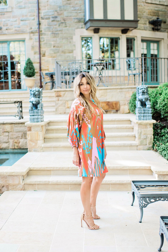 Madison Dress- Caramel Ikat