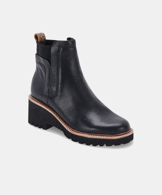 Huey H20 Bootie- Black Leather