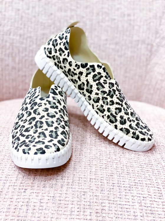 Tulip Slip-On Shoe- Leopard