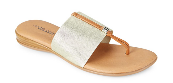 Nice Elastic Sandal- Platino (Gold)