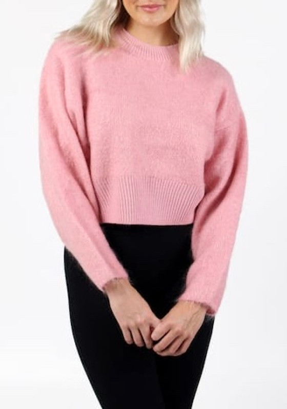 Barrio Sweater- Bubble Gum Pink